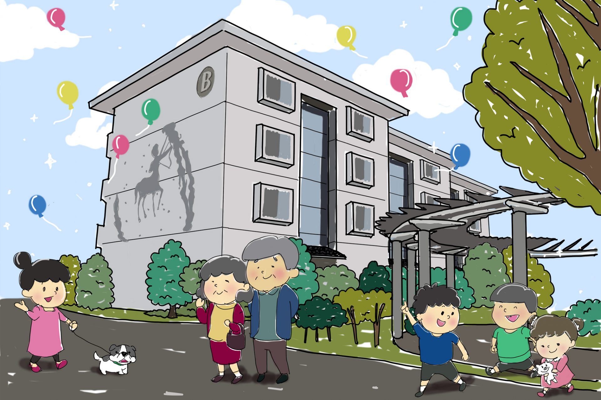 ホシノマチ団地 -軽井沢郊外50歳以上のための移住者向け住宅